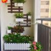1 Mẩu tiểu cảnh cây xanh ban công nhà chung cư đẹp MS BC001