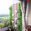 33Mẩu trang trí ban công bằng hoa giả cho căn hộ chung cư MS BCC005