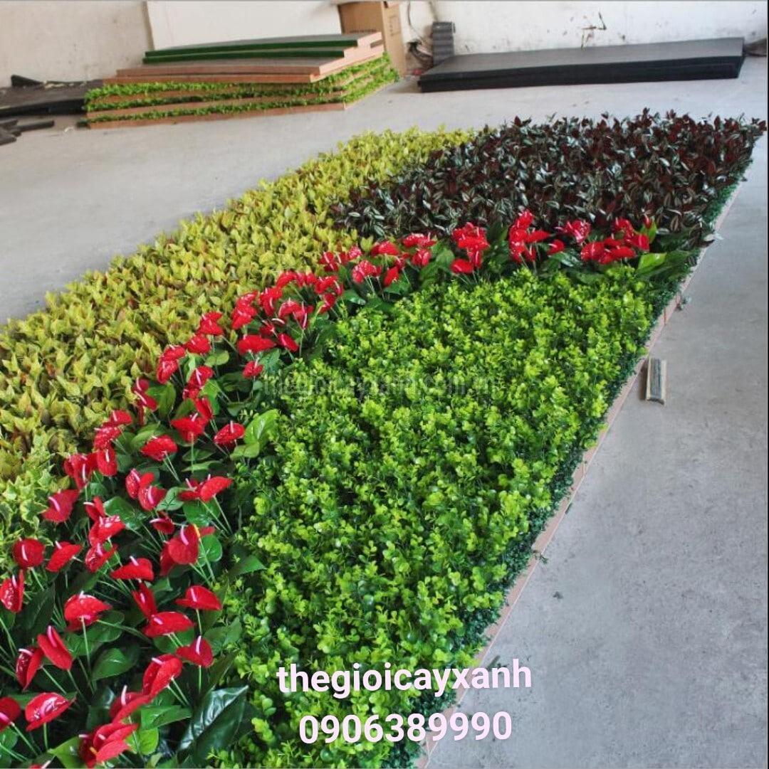 thi công tường hoa giả, cây giả, cỏ giả tại Bình Dương